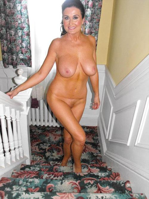 Sexy mature lady fully nude going upstairs to bedroom – Wife Update